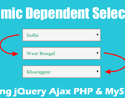 ajax dependent dropdown